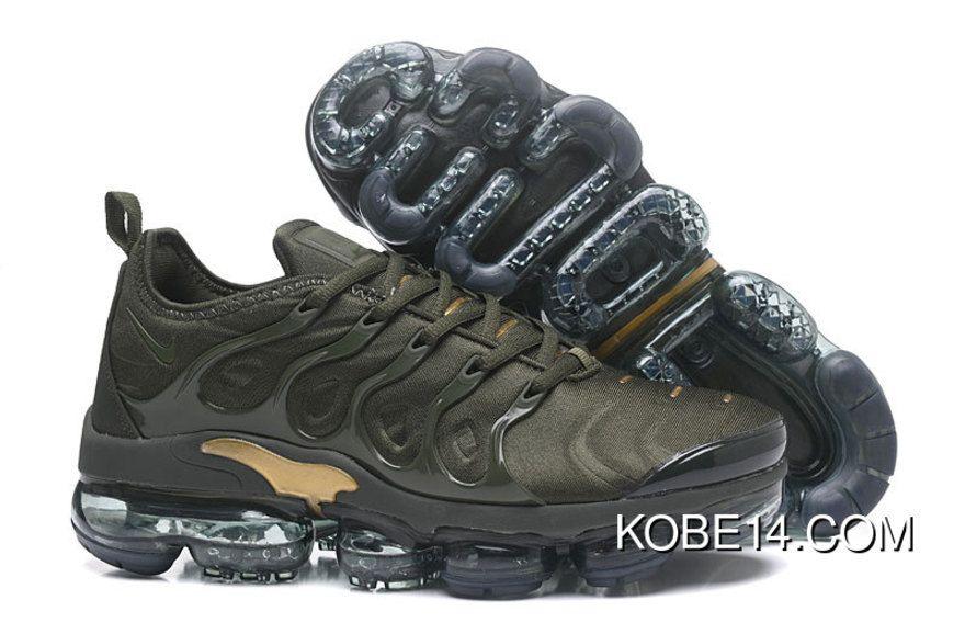d7ec4032215 Elegant Shape Nike Air Max Plus TN Ultra Sneakers Army Green Black Men s  Running Shoes 881560 434
