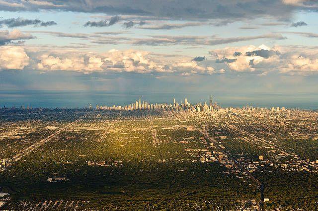 30. Chicago da lontano