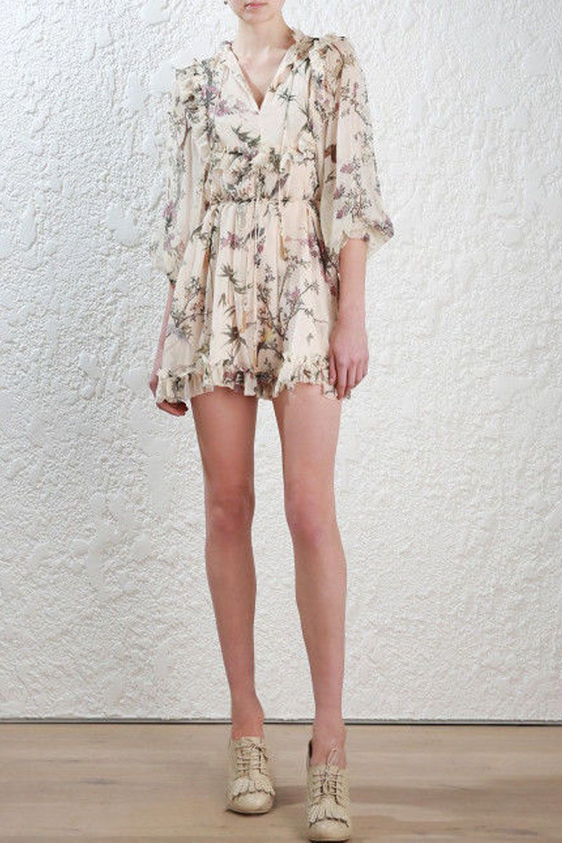a986a27323 Zimmermann Maples Frill Playsuit