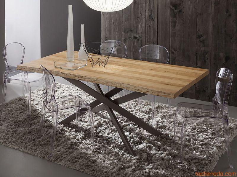 pa126 table en m tal verni gris londres plateau en