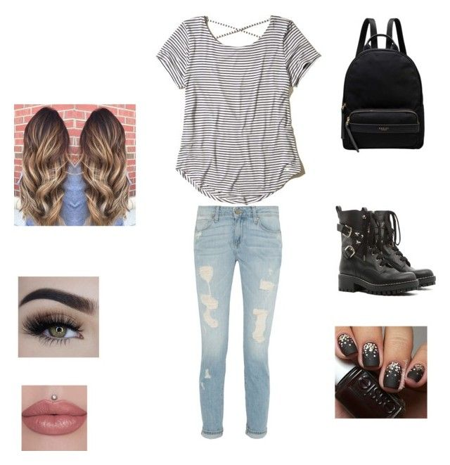"""""""Casual"""" by stylequeen-123 on Polyvore featuring Hollister Co., RED Valentino and Radley"""