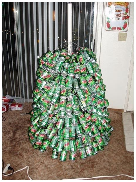 How to Make a Mountain Dew Soda Can Christmas Tree: The Ultimate Artificial Christmas  Tree - How To Make A Mountain Dew Soda Can Christmas Tree: The Ultimate
