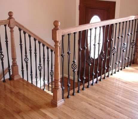 Best Wrought Iron And Wood Stair Railings For A Split Foyer 400 x 300