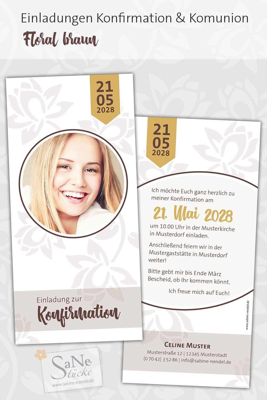 Pin Von Rosa Zea Auf Konfirmation Kommunion Einladungskarten Konfirmation Konfirmationseinladungen Einladung Konfirmation