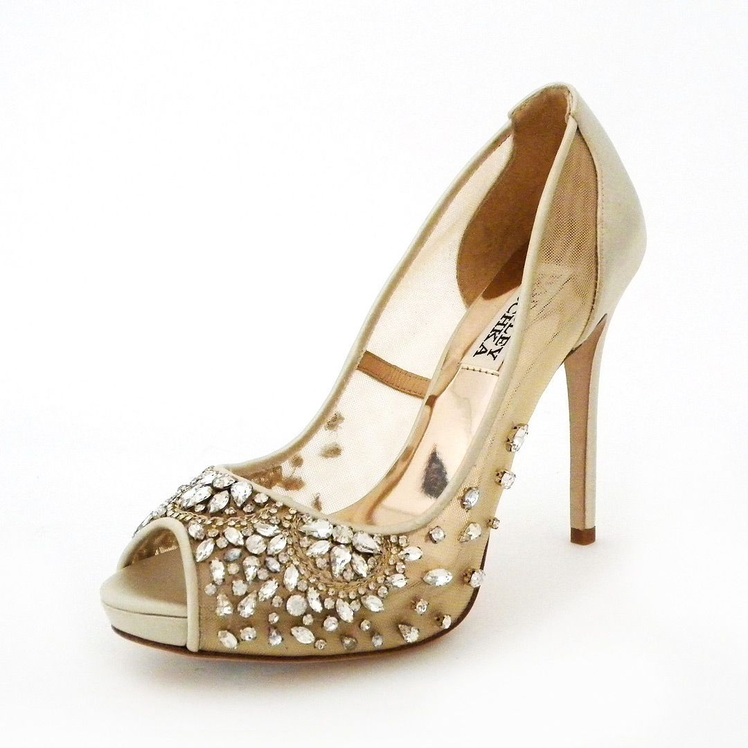 Badgley Mischka Wedding Shoes Bride S Favorite Silhouette Now In Sheer Mesh With Serious Sparkle At The Toe Who Can Resist