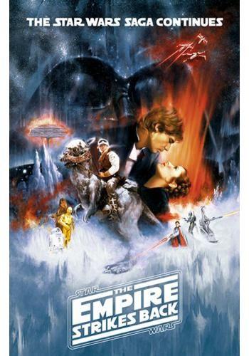 """Poster verticale """"The Empire Strikes Back"""" di #StarWars. Dimensioni: 61 x 91,5 cm."""
