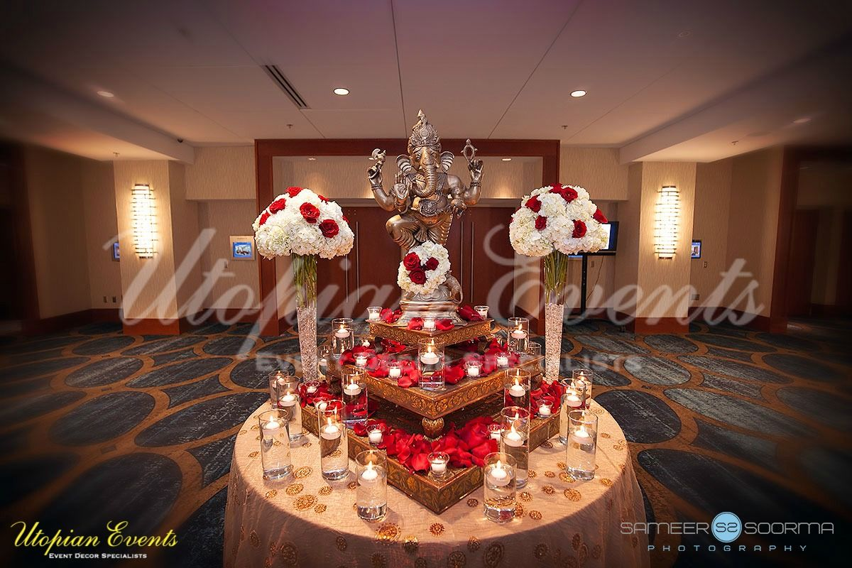 Beautiful Utopian Events Ganesh Table For Your Welcome Area Red
