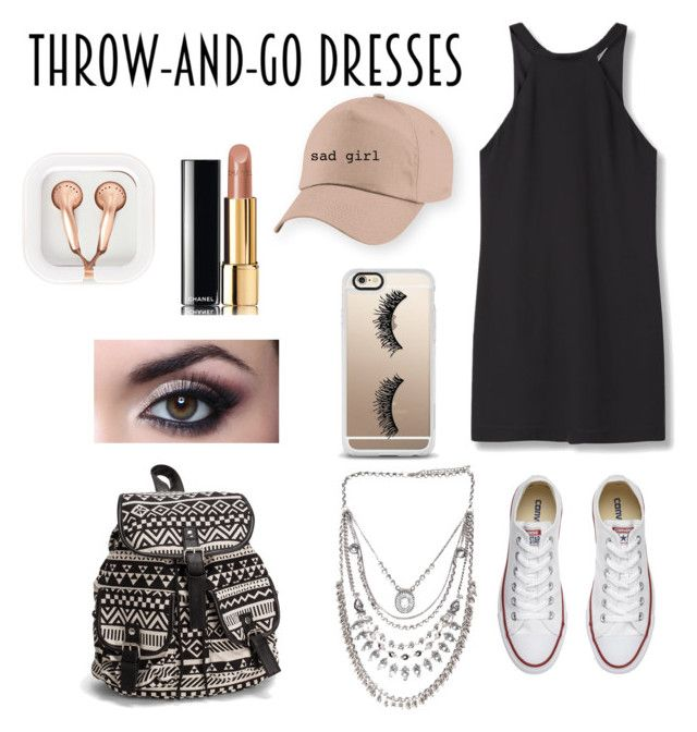 """""""👗"""" by kenzie4ever11 ❤ liked on Polyvore featuring MANGO, Converse, NLY Accessories, Casetify, Chanel and claire's"""
