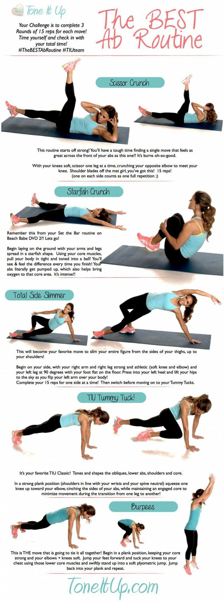 Tone It Up: The Best Ab Workout Routine | Bauchmuskeln, Traumfigur ...