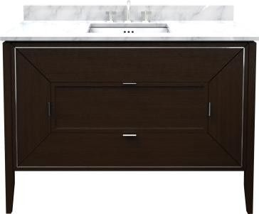 Ronbow 054048 F22 Amora 48 Inch Bathroom Vanity Cabinet Base In Navy