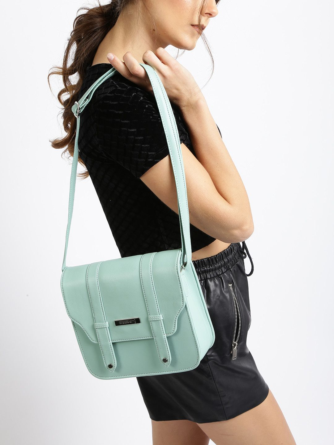 62072327464 DressBerry Mint Green Synthetic Sling Bag | This Corner For Bags in ...