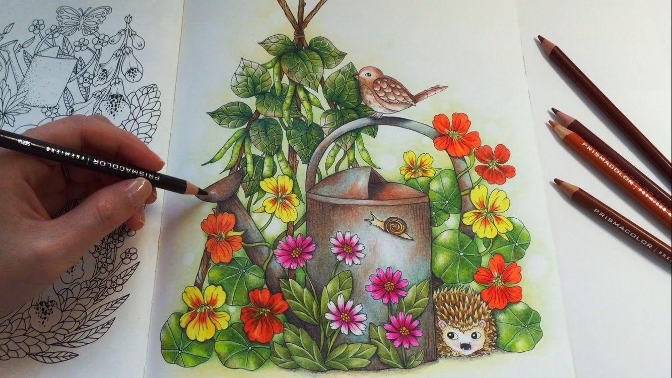 Youtube coloring book - Farm Friends Blomstermandala Coloring Book Prismacolor Premier Colored Pencils Coloring Youtube
