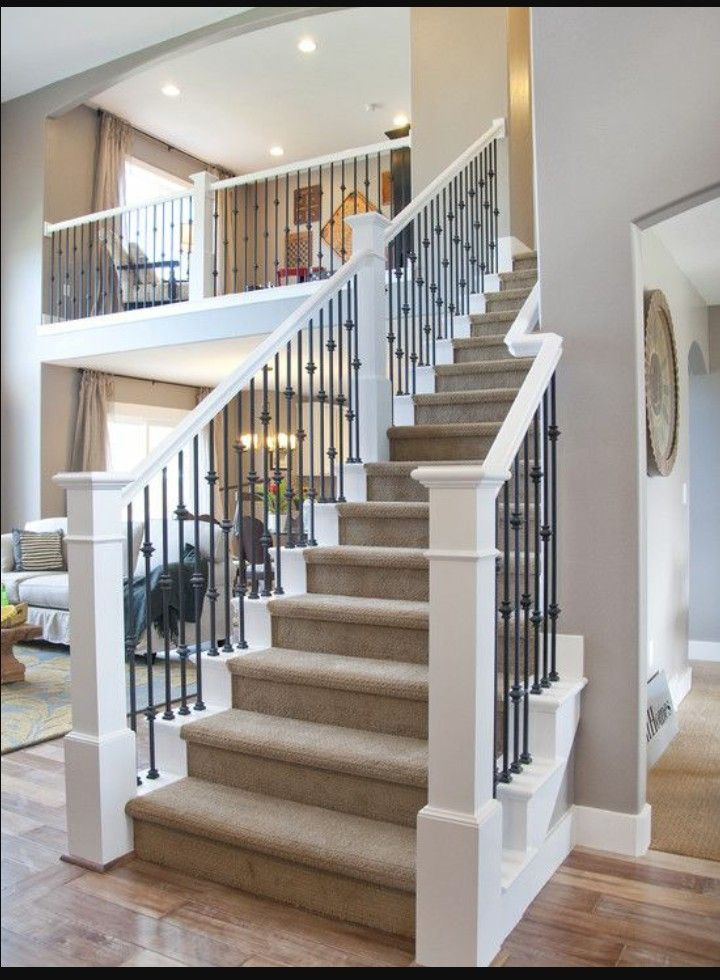 Railings - this is a good color scheme | Stairs design ...