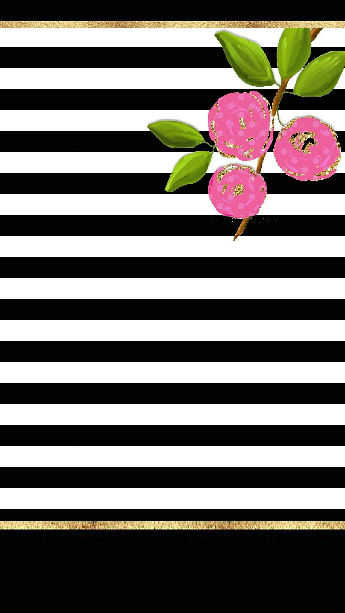 Sweet flowers and stripes preppy c3 Sweet floral and ...