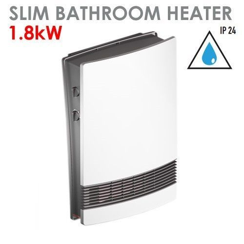 Electric Ip24 1800w Slim Electric Bathroom Washroom Wall Mounted Fan Heater Wall Mounted Fan Bathroom Heater Heater