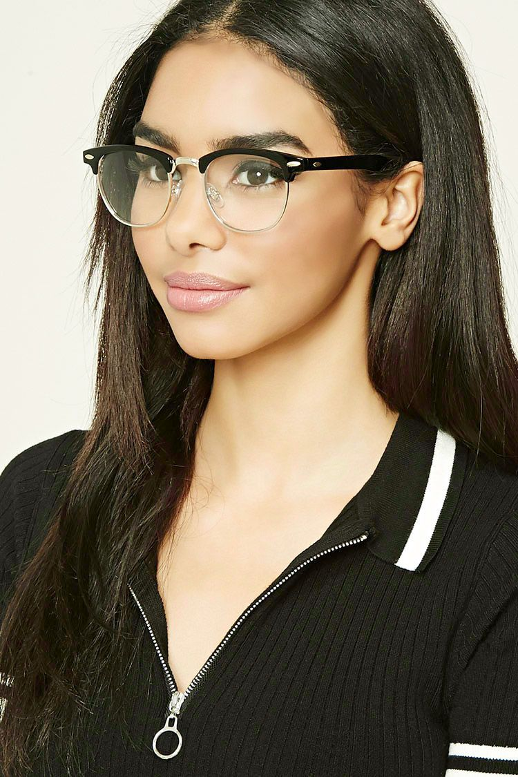 85c723af99 A pair of browline reader glasses featuring high-polish rims and top bar.