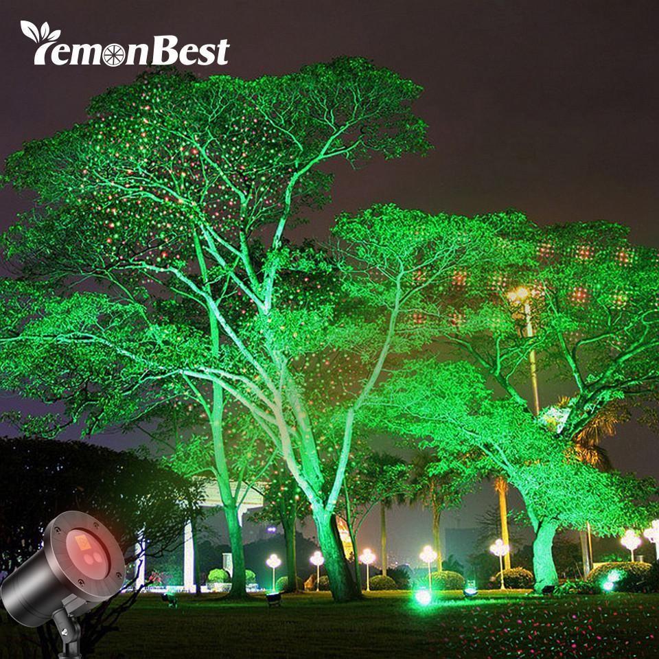 Waterproof Laser Projector Light Red And Green With 4 Modes Landscape Spotlights Landscape Lighting Solar Christmas Lights