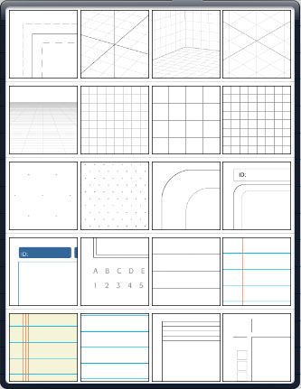templates for sketchbook SketchBook Pro for iPad 11 - half inch graph paper template