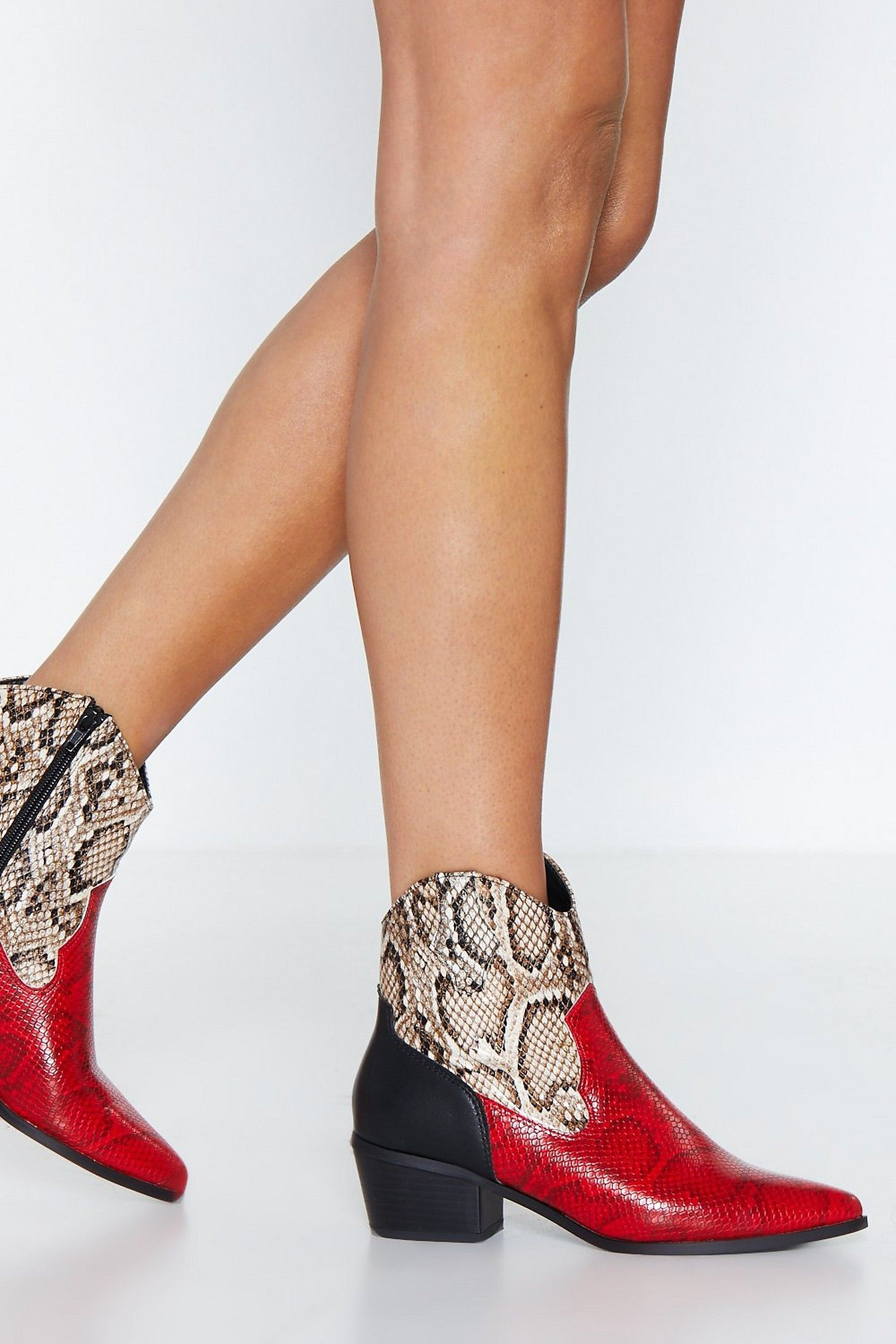 Add These to the Mix Snake Boot | Shop Clothes at Nasty Gal