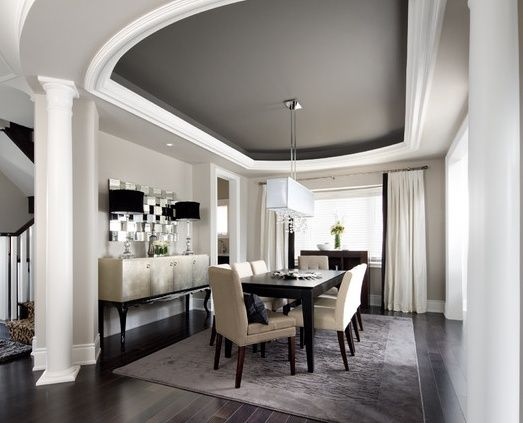 dark grey dining room tray ceiling with dark grey ceiling in dining room dining room ideas. Black Bedroom Furniture Sets. Home Design Ideas