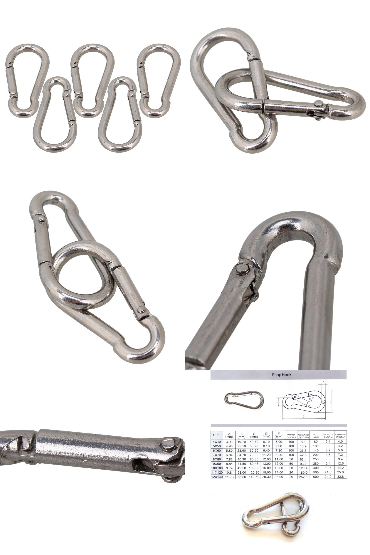 Visit To Buy Multifunctional 304 Stainless Steel Spring Loaded Gate Snap Carabiner Quick Link Lock Ring Hook M4 40mm Pack Of 5 Advertis Multifunctional Gate Hooks Stainless Steel