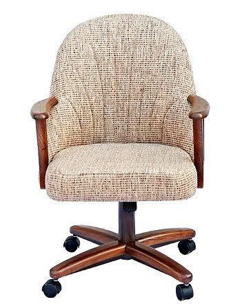 Chromcraft C127 936 Swivel Tilt Caster Chairs Upholstered Swivel