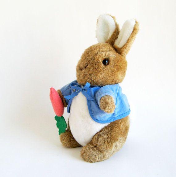 Vintage Peter Rabbit Large Stuffed Animal Toy By Eden Beatrix Potter 1990s Toys Kids Toys Bunny Rabbit Peter Rabbit Stuffed Animal Pet Toys Large Stuffed Animals