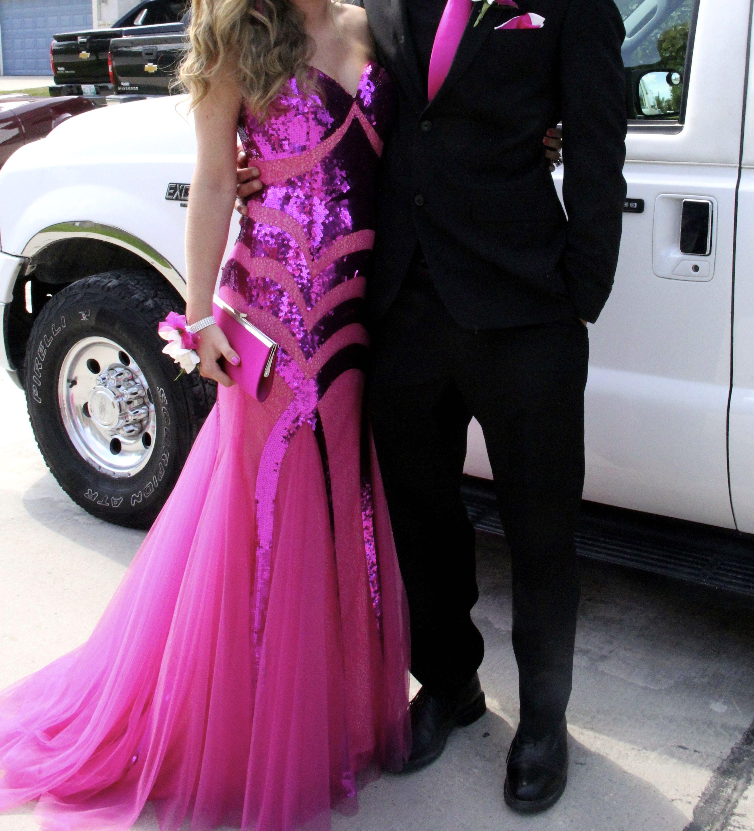 jovani grad dress | Costume - Hot Pink & Black | Pinterest