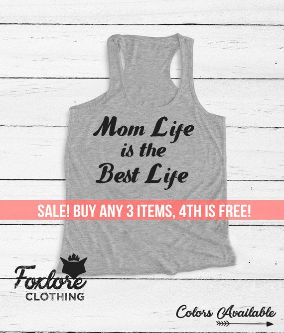 e0dbf1990b19af Mom Life Is The Best Life Tank Top Tee Racerback Women Ladies Men Funny  Birthday Gift Yoga Top Mama