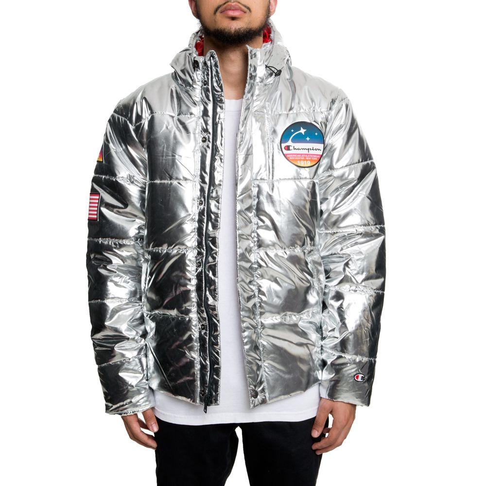 Metallic Puffer Coat Silver Puffer Coat Champion Brand Puffer [ 1000 x 1000 Pixel ]
