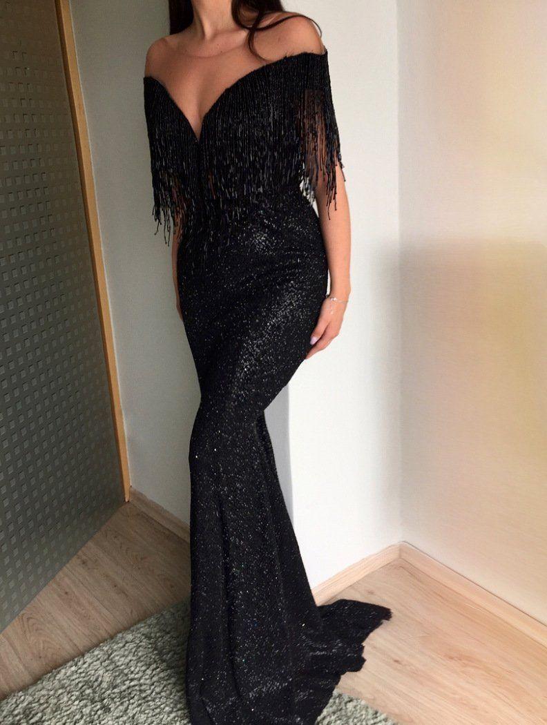 elegante abendkleider schwarz lang | abiballkleider günstig