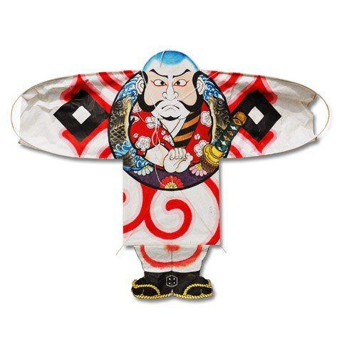 Japanese hand painted kite / Yakko samurai | Resources for