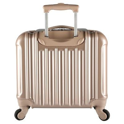 kensie 17 rolling briefcase with spinner wheels pale gold light