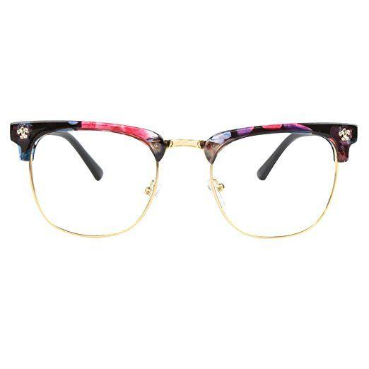 ac364e0c384f GLASSESLIT Men Women Inspired classic Half Frame Wayfarer Clear Lens  Eyeglasses Review