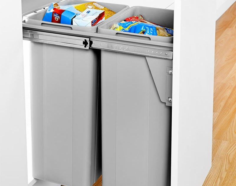 Dual Waste Bin For Pull Out Door Clutterfree Kitchens Automatic Bin For Kitchen Cabinets Cupboard Bins For Kitchen In 2020 Kitchen Cupboards Small Cupboard Cupboard