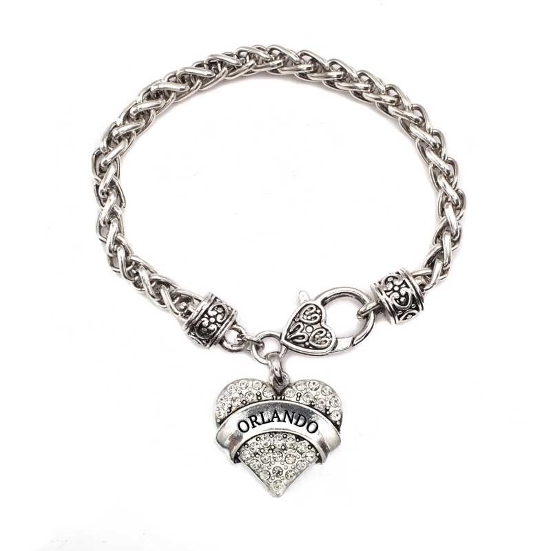 Orlando Pave Heart Charm Bracelet #Inspiredsilver #heartcharms #love #Heart