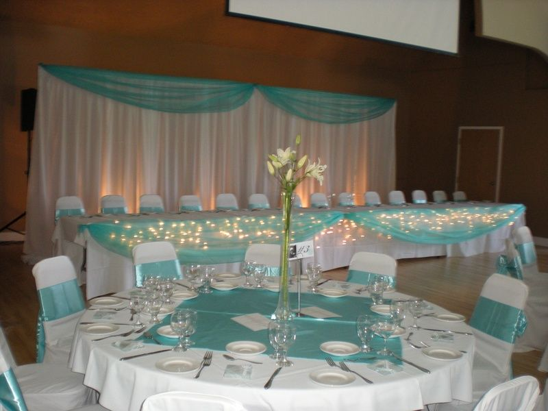 Wonderful Blue Table Decorations For Weddings