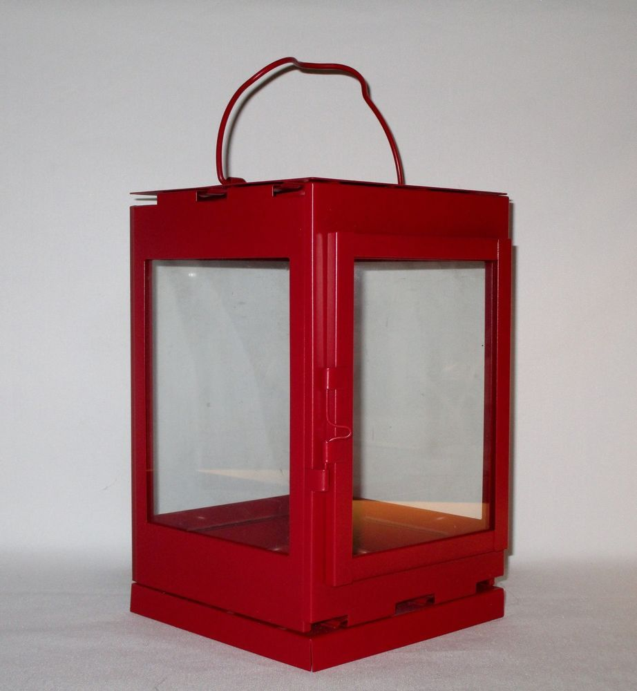 Ikea Snovita Red Lantern Candle Holder New In Box For Tealights