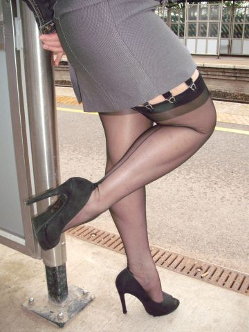 fd4fbf6ab63 waiting for the bus Stockings In Public