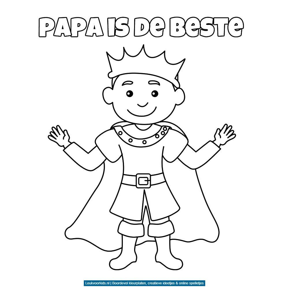 Bekijk Papa Is De Beste Kleurplaat Fijne Vadersdag Vaderdag Kleurplaten