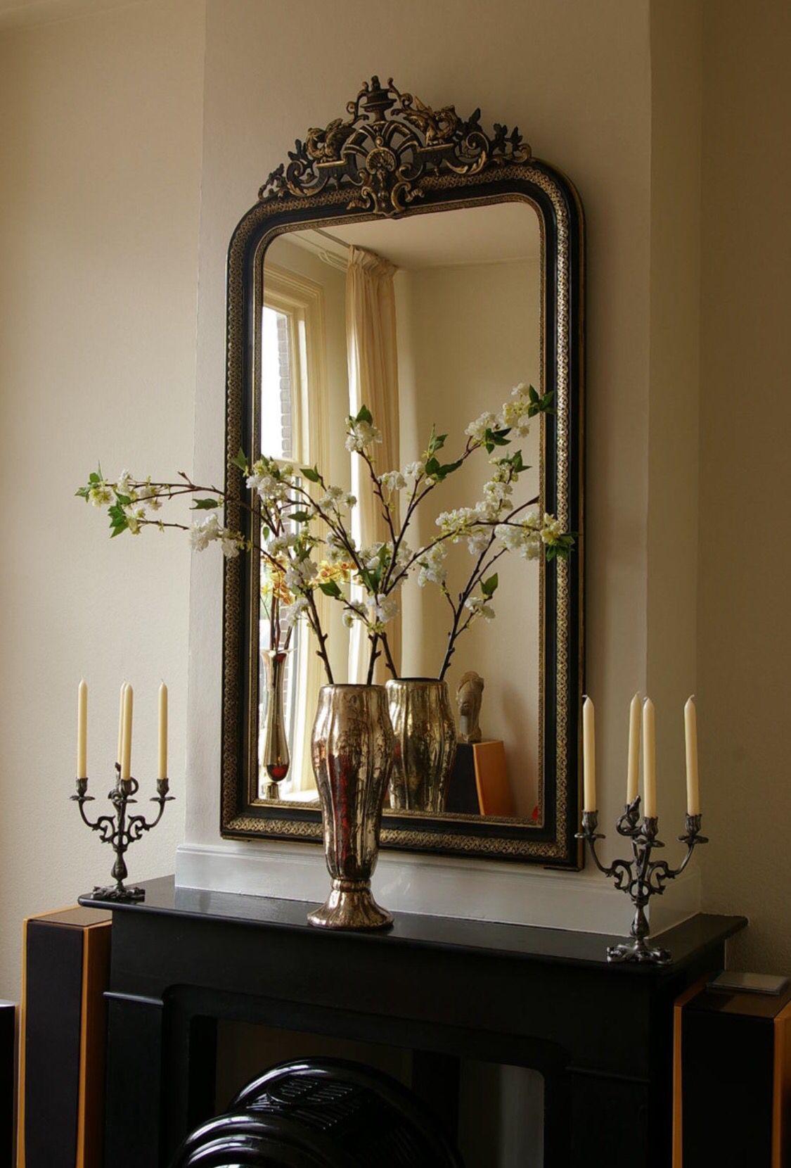 Spiegel boven schouw woonkamer pinterest spiegel for Spiegel boven dressoir