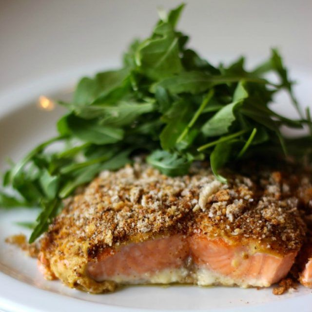 Mustard Crusted Salmon Df Amp Gf Recipe Crusted Salmon Salmon Recipes Paleo Meal Plan