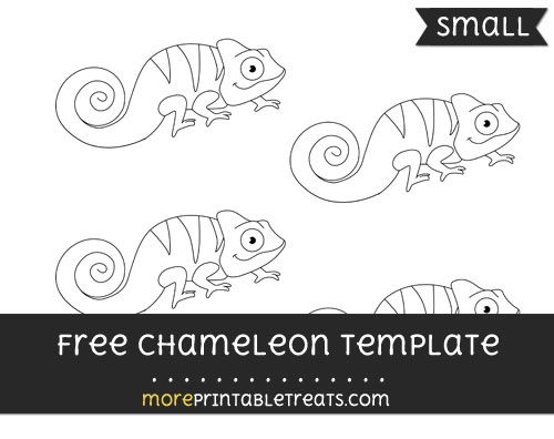 Free Chameleon Template - Small | Shapes and Templates Printables ...