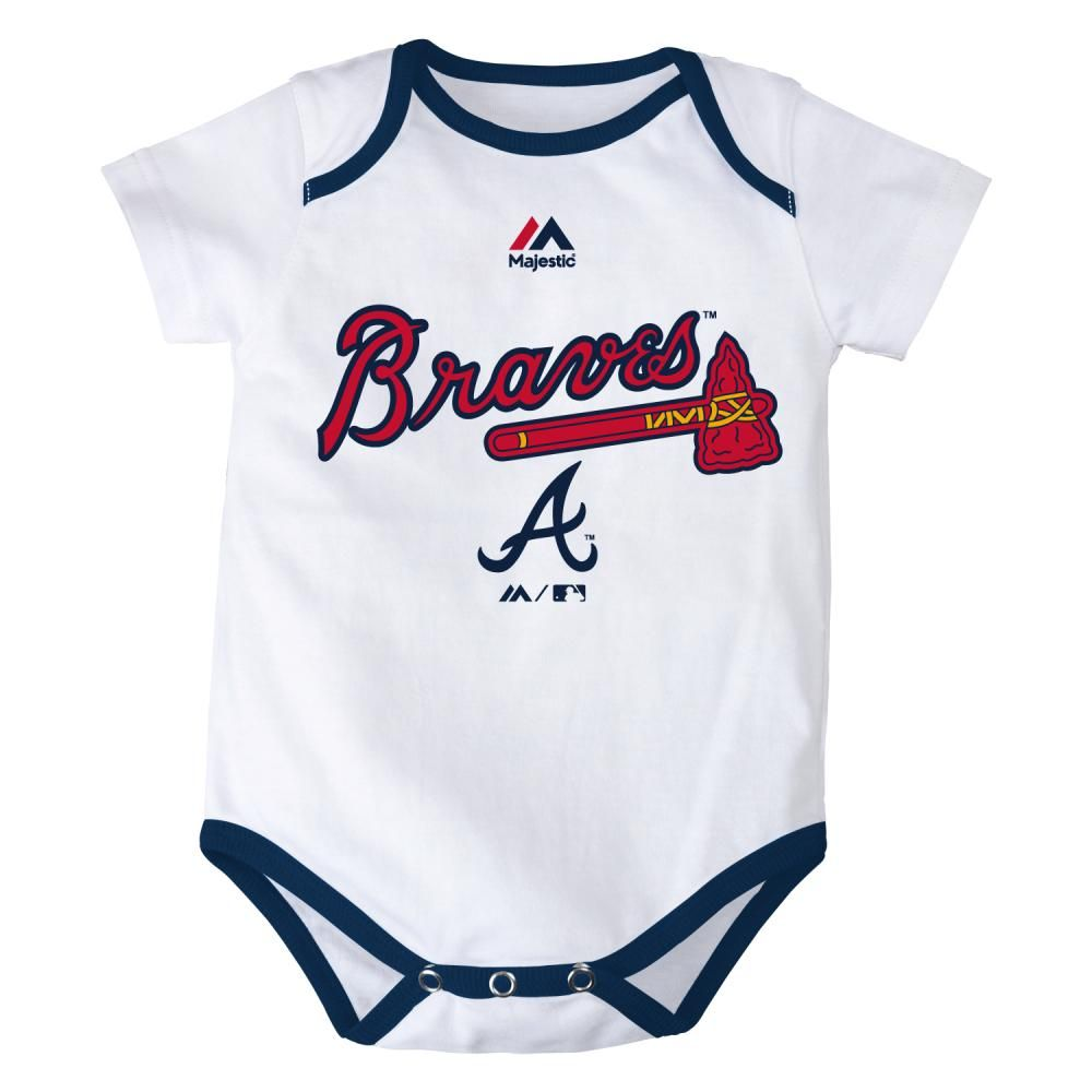 Atlanta Braves Baby Outfits Only 0 3m Left Atlanta Braves Baby Baby Clothes Atlanta Braves