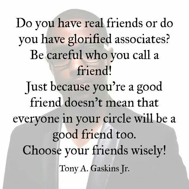 Real friends vs glorified associates | Family & Relationships