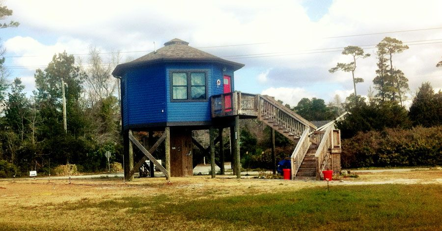 Beach Tiny House On Stilts