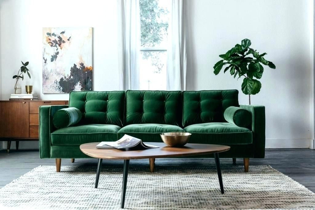 Green Sofas Living Rooms Emerald Room Ideas Dark Decorating Design