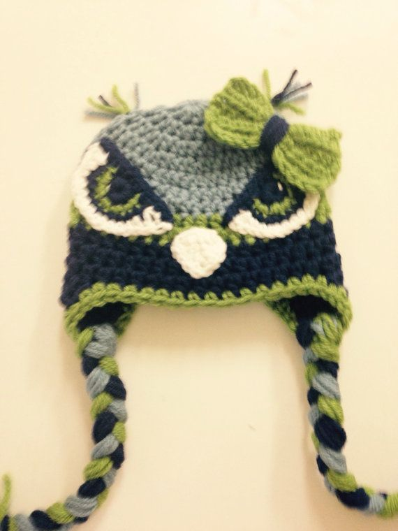 Seattle Seahawks inspired hat by MarysMoxee on Etsy | Seahawk Items ...