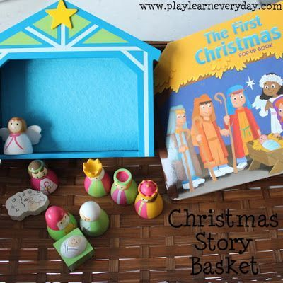 Christmas Story Basket Sunday School Lessons Pinterest