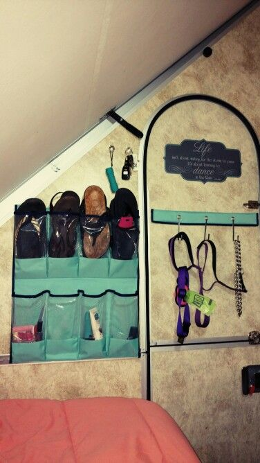 Shoe organizers prive useful even in an A-Frame! | A-Frame